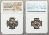 LUCANIA. Velia. Ca. 3rd century BC. AR didrachm or nomos (23mm, 7.35 gm, 1h). NGC Choice Fine 5/5 - 5/5. Ca. 280 BC. Head of Athena left, wearing cres...