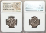 SICILY. Syracuse. Second Democracy (430-420 BC). AR tetradrachm (25mm, 16.89 gm, 10h). NGC Choice VF 4/5 - 3/5, Fine Style, lt. scuffs. Transitional i...