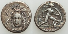 SICILY. Syracuse. Dionysus I (405-367 BC). AR drachm (18mm, 3.80 gm, 10h). NGC (photo-certificate) Choice Fine 4/5 - 2/5, scratches. Unsigned dies in ...