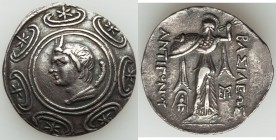MACEDONIAN KINGDOM. Antigonus II Gonatas (277/6-239 BC). AR tetradrachm (30mm, 16.12 gm, 10h). NGC (photo-certificate) XF 5/5 - 2/5, edge filed, scrat...