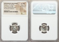 MACEDONIAN KINGDOM. Perseus (179-168 BC). AR drachm (16mm, 2.69 gm, 11h). NGC Choice MS 5/5 - 5/5. Pseudo-Rhodian, Greek mercenaries issue, ca. 175-17...