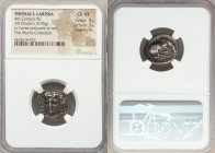 THESSALY. Larissa. Ca. 356-342 BC. AR drachm (20mm, 5.95 gm, 5h). NGC Choice VF 4/5 - 3/5, Fine Style. Head of nymph Larissa facing slightly left, wea...