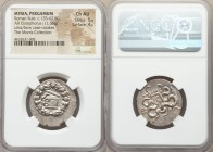 MYSIA. Pergamum. Under Roman Rule (ca. 133-67 BC). AR cistophorus (26mm, 12.66 gm, 11h). NGC Choice AU 5/5 - 4/5. Struck ca. 95-92 BC. Serpent emergin...