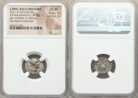 CARIA. Halicarnassus. Ca. 2nd-1st centuries BC. AR hemidrachm (16mm, 2.18 gm, 12h). NGC Choice XF 5/5 - 4/5. Theo-, magistrate. Laureate head of Artem...