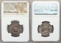PHRYGIA. Laodicea. Ca. 133-67 BC. AR cistophorus (27mm, 12.52 gm, 12h). NGC Choice XF 4/5 - 5/5. Ca. 88-67 BC, Cratippus, moneyer. Cista mystica with ...