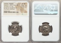 CILICIA. Tarsus. Datames (Tarkumuwa), as Satrap (385/4-362/1 BC). AR stater (23mm, 10.16 gm, 12h). NGC Choice XF 5/5 - 2/5. Ca. 378-372 BC. Female hea...