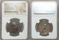 SELEUCID KINGDOM. Antiochus IV Epiphanes (175-164 BC). AR tetradrachm (31mm, 16.83 gm, 12h). NGC Choice XF 4/5 - 3/5. Antioch on the Orontes, ca. 167-...