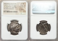 PTOLEMAIC EGYPT. Ptolemy I Soter, as Satrap (ca. 323-305 BC). AR tetradrachm (28mm, 15.60 gm, 12h). NGC Choice VF 4/5 - 2/5, graffiti. Obverse die sig...