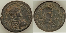 PONTUS. Amasia. Caracalla, as Augustus (AD 198-217), with Geta, as Caesar. AE tetrassarion (31mm, 17.26 gm, 12h). Choice Fine. Dated Civic Year 208 (A...