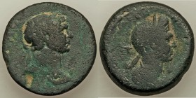 CILICIA. Anazarbus. Trajan (AD 98-117) with Plotina. AE (29mm, 19.60 gm, 11h). Fine. Dated Pompeian-Cilician Era 132 (AD 113/4). Laureate head of Traj...