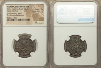 ARABIA. Philippopolis. Divus Julius Marinus (died AD 246/7). AE (23mm, 8.49 gm, 12h). NGC Fine, 5/5 - 2/5. ΘEΩ MAPINΩ, bare head of Julius Marinus rig...