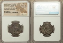 EGYPT. Alexandria. Agrippina Junior (AD 50-59). AE diobol (26mm, 10.87 gm, 12h). NGC VF 3/5 - 4/5. Dated Regnal Year 12 of Claudius I (AD 51/2). AΓPIΠ...