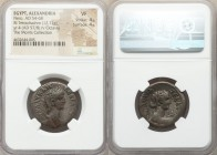 EGYPT. Alexandria. Nero (AD 54-68). BI tetradrachm (26mm, 12.72 gm, 12h). NGC VF 4/5 - 4/5. Dated Regnal Year 4 (AD 57/8). NEP KΛAY KAIΣ ΣEB ΓEP AYTO,...
