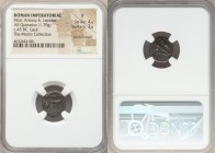 Marc Antony and Lepidus, as Triumvirs (43-36 BC). AR quinarius (14mm, 1.79 gm, 4h). NGC Fine 4/5 - 3/5, bankers mark. Military mint traveling with Ant...