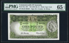 Australia Commonwealth of Australia 1 Pound ND (1961-65) Pick 34a PMG Gem Uncirculated 65 EPQ.   HID09801242017