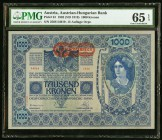 Austria Austrian-Hungarian Bank 1000 Kronen 1902 (ND 1919) Pick 61 PMG Gem Uncirculated 65 EPQ.   HID09801242017