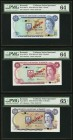 Bermuda Monetary Authority $1; $5; $10; $20; $50; $100 1978-84 Pick 28CS1-33CS1 Collector Series Set PMG Choice Uncirculated 64 (2); Gem Uncirculated ...