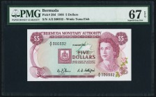 Bermuda Monetary Authority 5 Dollars 1.1.1988 Pick 29d PMG Superb Gem Unc 67 EPQ.   HID09801242017