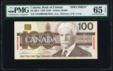 Canada Bank of Canada $100 1988 BC-60aS Specimen PMG Gem Uncirculated 65 EPQ.   HID09801242017