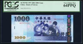 China Bank of Taiwan 1000 Yuan 2004 Pick 1997 PCGS Very Choice New 64PPQ.   HID09801242017