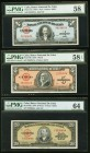 Cuba Group Lot of 6 PMG Graded Examples About Uncirculated 53 EPQ to Choice Uncirculated 64.   HID09801242017