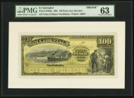 El Salvador Banco Occidental 100 Pesos 189x Pick S180fp Front Proof PMG Choice Uncirculated 63.   HID09801242017