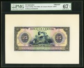 El Salvador Banco Occidental 25 Colones ND (1929) Pick S197fp Front Proof PMG Superb Gem Unc 67 EPQ.   HID09801242017