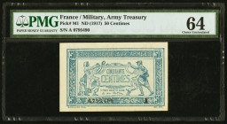 France Allied Military Currency 50 Centimes ND (1917) Pick M1 PMG Choice Uncirculated 64. Pinholes.  HID09801242017