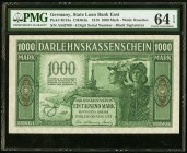 Germany State Loan Bank East 1000 Mark 4.4.1918 Pick R134a PMG Choice Uncirculated 64 EPQ.   HID09801242017