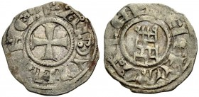 KINGDOM OF JERUSALEM. BALDWIN III 1143-1163. Denier. Cross, +BALDVINVS REX Rv. The tower of David, +DE IERVSALEM 0.93 g. Metcalf 164 A, Schlumb. III, ...