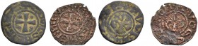 KINGDOM OF JERUSALEM. HENRI DE CHAMPAGNE, 1192-1197. Lot of two pougeoises. Cross with an annulet in each quarter, +COMES HENRICVS Rv. Fleur-de-lis, +...
