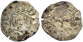 DAMIETTA. JEAN DE BRIENNE, 1219-1221. Denier. Facing crowned head, +DA(M)IATA Rv. Cross with annulet in second and third quarter, +IOHES: REX 0.61 g. ...