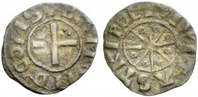 THE COUNTY OF TRIPOLI. BOHEMOND V, 1233-1251. Denier. Cross with three pellets in second quarter, +BAMVND' COMS Rv. Eight-pointed star with annulets b...