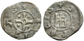 THE COUNTY OF TRIPOLI. BOHEMOND V, 1233-1251. New style castle copper, after 1230. Cross with circle in centre and a pellet in each quarter, +CIVITAS ...