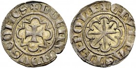 THE COUNTY OF TRIPOLI. BOHEMOND VI., 1251-1275. Gros. Cross in octafoil pattern, +BOEMVNDVS: COMES Rv. Star in octafoil, CIVITAS TRIPOLI The letter I ...