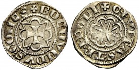 THE COUNTY OF TRIPOLI. BOHEMOND VI., 1251-1275. Half gros. Cross in octafoil pattern, +BOEMVNDVS: COMES Rv. Star in octafoil, CIVITAS: TRIPOLI The let...