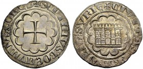 THE COUNTY OF TRIPOLI. BOHEMOND VII., 1275-1287. Gros. Cross in twelve-foil, +SEPTIMVS BOEMVNDVS: COMES Rv. Castle in twelve-foil, +CIVITAS: TRIPOLIS:...