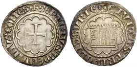 THE COUNTY OF TRIPOLI. BOHEMOND VII., 1275-1287. Gros. Cross in twelve-foil, +SEPTIMVS: BOEMVNDVS: COMES Rv. Castle in twelve-foil, +CIVITAS: TRIPOLIS...