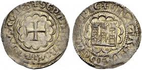 THE COUNTY OF TRIPOLI. BOHEMOND VII., 1275-1287. Half-gros. Cross in twelve-foil, +SEPTIMVS BOEMVNDVS COMES Rv. Castle in twelve-foil, small wedges be...