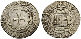 THE COUNTY OF TRIPOLI. BOHEMOND VII., 1275-1287. Half-gros. Cross in twelve-foil, +SEPTIMVS: BOEMVIIDVS: COIIES Rv. Castle in twelve-foil, small wedge...