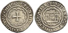 THE COUNTY OF TRIPOLI. BOHEMOND VII., 1275-1287. Half-gros. Cross in twelve-foil, +SEPTIMVS BOEMVNDVS: COMES Rv. Castle in twelve-foil, small wedges b...