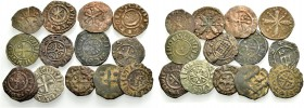 THE COUNTY OF TRIPOLI. LOT. 13 coins of Raymond II, Bohemond IV and others (13). Fine
