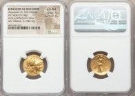 MACEDONIAN KINGDOM. Alexander III the Great (336-323 BC). AV stater (18mm, 8.54 gm, 12h). NGC Choice AU 5/5 - 4/5. Miletus, 323-319 BC. Head of Athena...