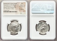 MACEDONIAN KINGDOM. Alexander III the Great (336-323 BC). AR tetradrachm (27mm, 17.19 gm, 12h). NGC AU 5/5 - 3/5, brushed. Late lifetime-early posthum...