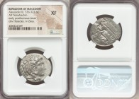 MACEDONIAN KINGDOM. Alexander III the Great (336-323 BC). AR tetradrachm (26mm, 5h). NGC XF. Late lifetime to early posthumous issue of 'Side', ca. 32...