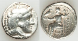 MACEDONIAN KINGDOM. Alexander III the Great (336-323 BC). AR tetradrachm (25mm, 17.03 gm, 6h). Fine. Posthumous issue of Sardes, ca. 319-315 BC. Head ...