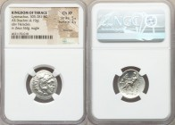 THRACIAN KINGDOM. Lysimachus (305-281 BC). AR drachm (20mm, 4.19 gm, 1h). NGC Choice XF 5/5 - 2/5, brushed. 'Colophon', ca. 301-297 BC. Head of Heracl...