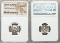 THRACIAN KINGDOM. Lysimachus (305-281 BC). AR drachm (17mm, 12h). NGC Choice XF. In the name and types of Alexander III of Macedon, Colophon, ca. 301-...