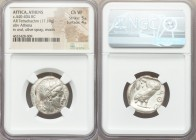 ATTICA. Athens. Ca. 440-404 BC. AR tetradrachm (22mm, 17.19 gm, 4h). NGC Choice VF 5/5 - 4/5. Mid-mass coinage issue. Head of Athena right, wearing cr...