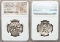 PHOENICIA. Tyre. Ca. 126/5 BC-AD 65/6. AR shekel (27mm, 14.36 gm, 12h). NGC Choice AU 4/5 - 5/5, die shift. Dated Civic Year 42 (85/4 BC). Laureate he...